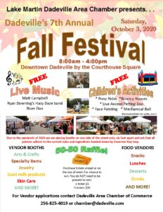 7th Annual Dadeville Fall Festival @ Dadeville Courthouse Square