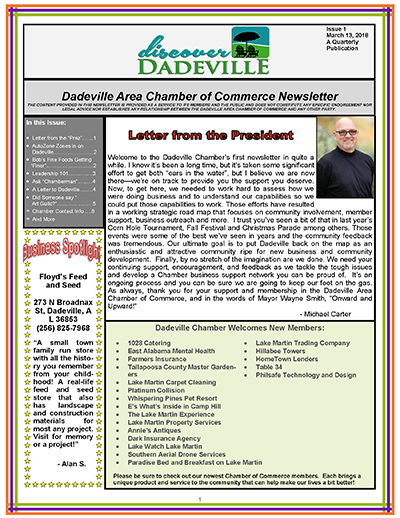 march 2018 newsletter cover
