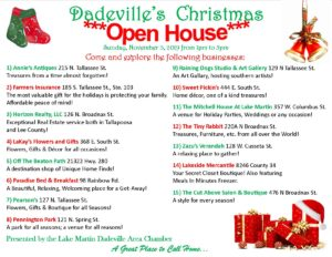 "Dadeville's Business ""Open House"" @ Dadeville"