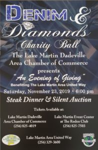 "Denim & Diamonds Charity Ball ""An Evening of Giving"" @ The Lake Martin Event Center"