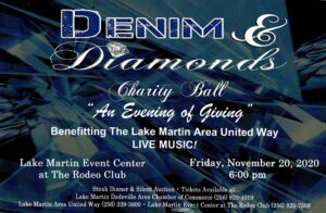 "9th Annual Denim & Diamonds Charity Ball ""An Evening of Giving"" @ The Lake Martin Event Center"