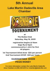 5th Annual Cornhole Tournament @ The Lake Martin Event Center