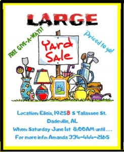 Large Yard Sale @ Elleis