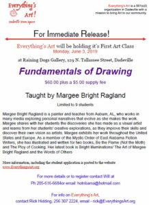 Fundamentals of Drawing by Margee Bright Ragland @ Raining Dogs Gallery