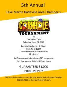 5th Annual Cornhole Tournament @ The Lake Martin Event Center