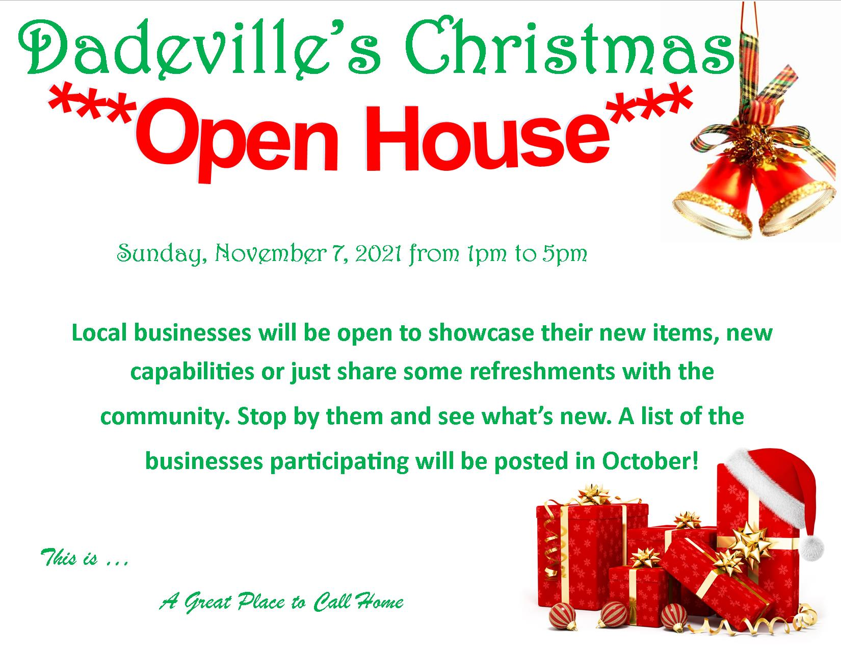 Dadeville's Annual Christmas Open House
