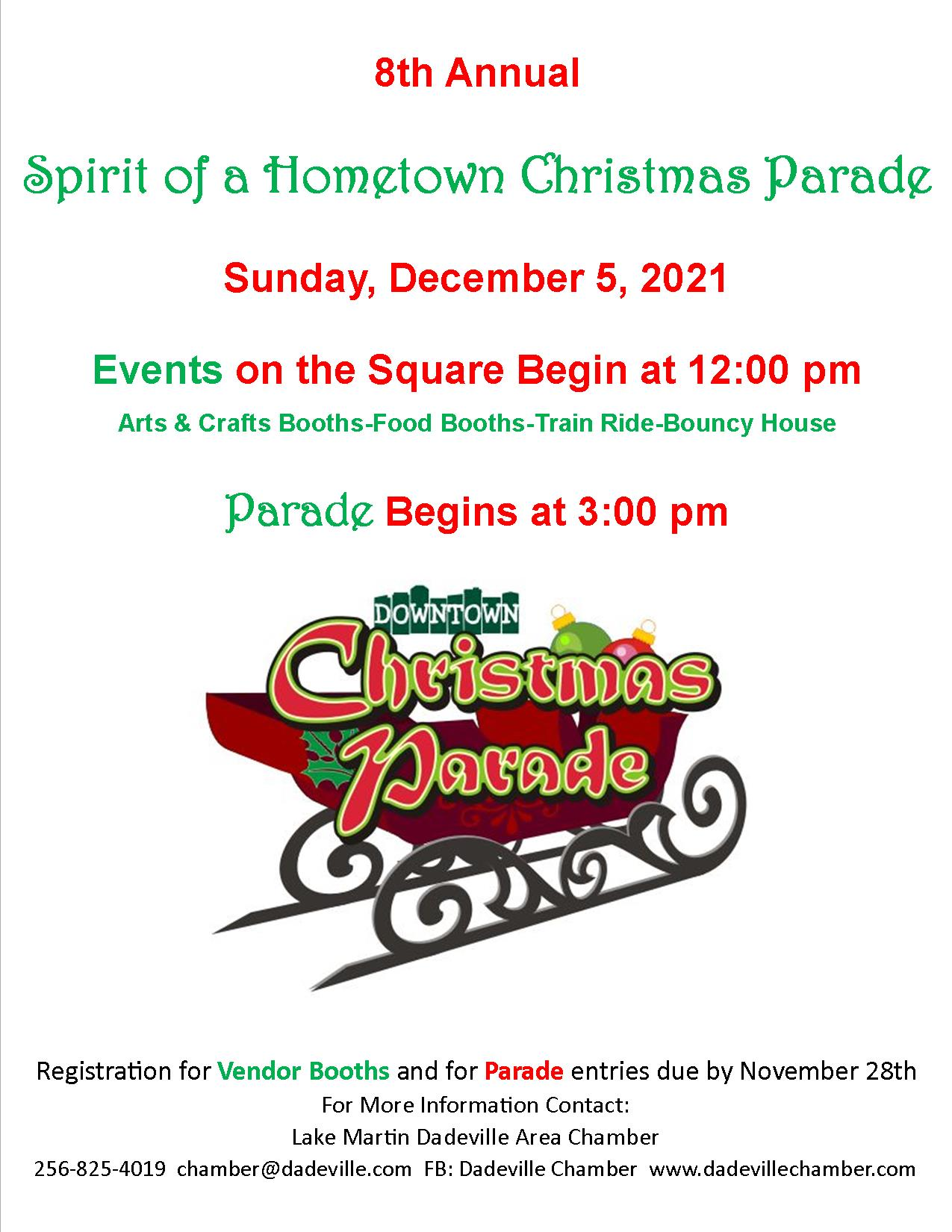 8th Annual Dadeville's Spirit of a Hometown Christmas Parade