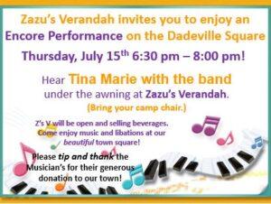 Live Music - Tina Marie and the Band @ Zazu's Verandah