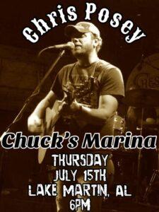 Live Music - Chris Posey @ Chuck's Marina