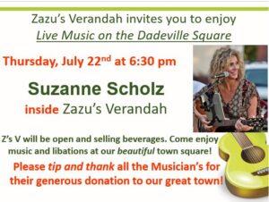 Live Music - Suzanne Scholz @ Zazu's Verandah