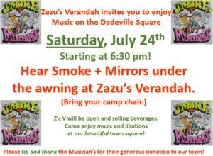 Live Music - Smoke and Mirrors @ Zazu's Verandah