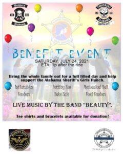 Tallapoosa County Sheriff's Girls Ranch Benefit Event @ Tallapoosa County Sheriff's Girls Ranch