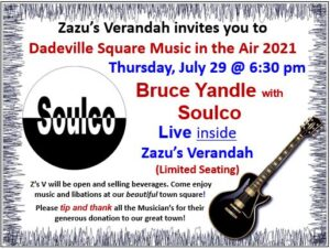 Live Music - Bruce Yandle with Soulco @ Zazu's Verandah