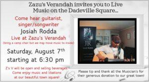 Live Music - Josiah Rodda @ Zazu's Verandah