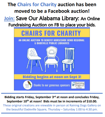 Silent Auction of Chairs for Charity! @ Zazu's Verandah
