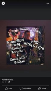 Live Music with DJ Chris Rainz @ the Rodeo Club