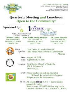 Quarterly Chamber Luncheon @ 1st Baptist Church of Dadeville