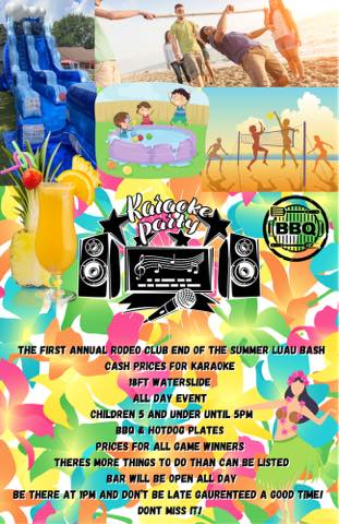 1st Annual End of Summer Luau Bash @ the Rodeo Club